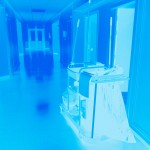 Hospital,Corridor,With,A,Trolley,With,Accessories,For,Cleaning,And