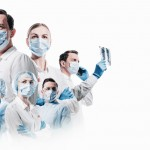 Team,Of,Medical,Professionals,On,A,White,Background