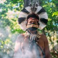 Shaman,Of,The,Pataxã³,Tribe.,Elderly,Indian,Man,Wearing,Feather