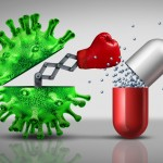 Antibiotic,Resistant,Virus,As,A,Deadly,Mutated,Viral,Cell,Attacking